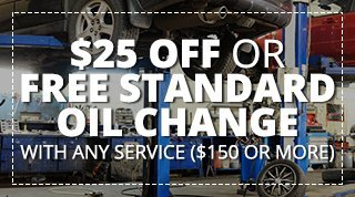 $25 OFF or FREE Standard Oil Change With Any Service ($150 or More)
